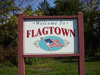 Flagtown, New Jersey - Welcome sign