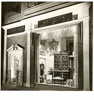 Florian Papp - A photograph of the gallery storefront from the 1950s.