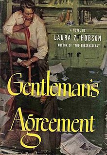 Gentlemans agreement novel wikipedia gentlemens agreement novel 1st editiong platinumwayz