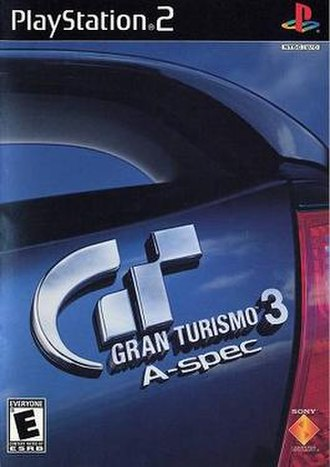Gran Turismo 3: A-Spec - North American version cover art featuring an Acura 3.2 CL Type S