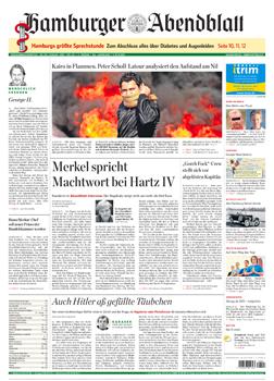 Hamburger Abendblatt front page