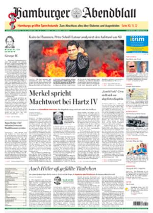 Hamburger Abendblatt - Image: Hamburger Abendblatt front page