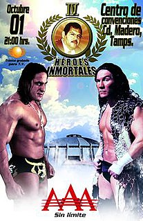 <i>Héroes Inmortales IV</i> 2010 Lucha Libre AAA World Wide event