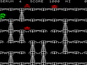 Horace series - In-game screen of Horace in the Spiders' Lair