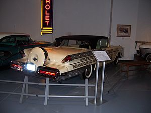 "Mercury Turnpike Cruiser - 1957 Convertible Cruiser with ""Continental Kit"" spare tire"