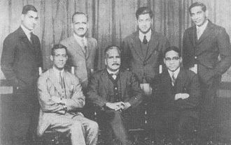 Muhammad Iqbal - Iqbal with Choudhary Rahmat Ali and other Muslim leaders