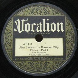 Jim Jackson's Kansas City Blues - Image: Jim Jackson's Kansas City Blues single cover