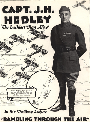 "John Herbert Hedley - Promotional material for John Herbert Hedley's lecture ""Rambling Through the Air."""