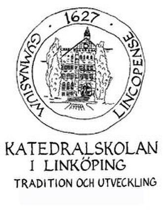 Katedralskolan, Linköping - Katedralskolan's logo with motto – Tradition and Development