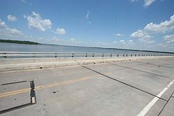 Kaw Lake seen from Spillway.jpg