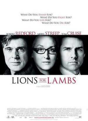 Lions for Lambs - Theatrical release poster
