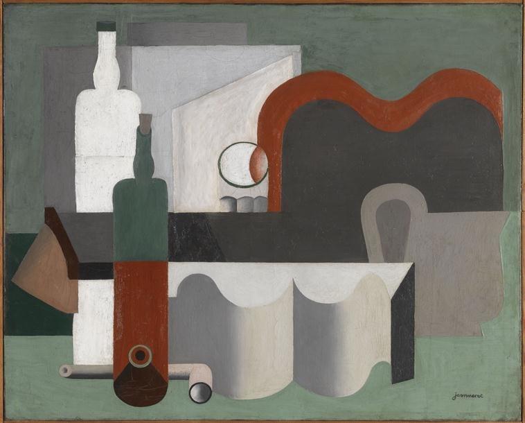 Le Corbusier, 1921, Nature morte, oil on canvas, 54 x 81 cm, Musée National d'Art Moderne
