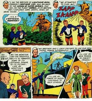 Garth Ranzz - Lightning Lad's origin.