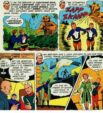 Garth Ranzz - Lightning Lad's origin.