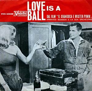 Love Is a Ball - Hope Lange and Glenn Ford on the soundtrack album cover