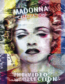 Madonna's face washed in different colors