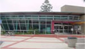 Fullerton Public Library - Fullerton Public Library, main entrance