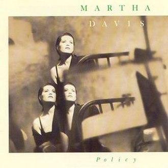 Policy (Martha Davis album) - Image: Martha Davis Policy