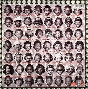 Midnight Marauders - The back vinyl cover of Midnight Marauders
