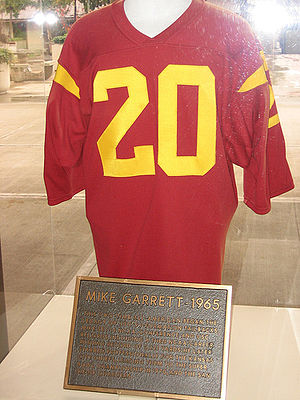 USC Trojans football - Mike Garrett's retired jersey