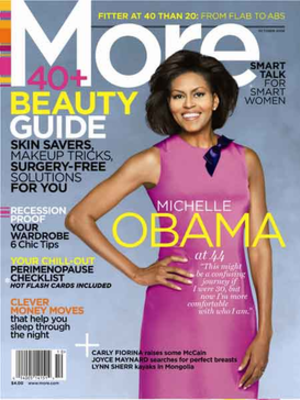 More (magazine) - October 2008 cover