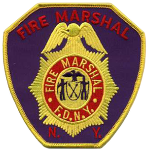 Fire marshal - New York City Fire Marshal patch