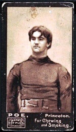 Neilson Poe (American football) - Mayo's Cut Plug football card of Neilson Poe, issued 1894