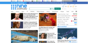 Nine.com.au - Image: Nine screenshot
