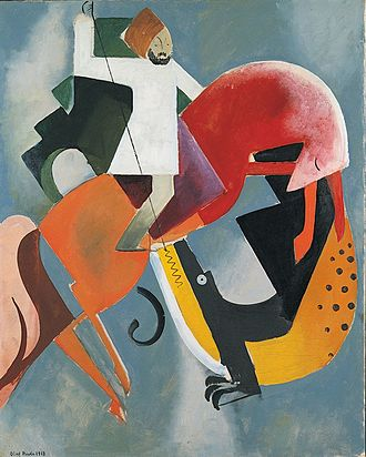 Olaf Rude - Olaf Rude, 1918, Sankt Georg og dragen (Saint George and the dragon), oil on canvas, 99.7 x 79.9 cm, ARoS Aarhus Kunstmuseum