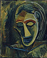 Pablo Picasso, 1908, Woman's Head (Tête de femme), oil on canvas, 73.6 x 60.6 cm, Museum of Modern Art.jpg