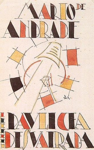 Mário de Andrade - Di Cavalcanti's cover for Paulicéia Desvairada, 1922.