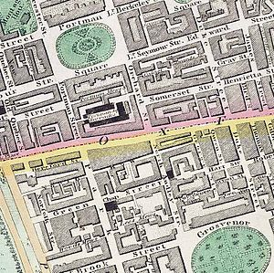 Portman Square - Portman Square, c.1830 (top left)