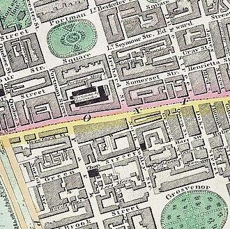 Portman Square - Portman Square, c.1830 (top left)