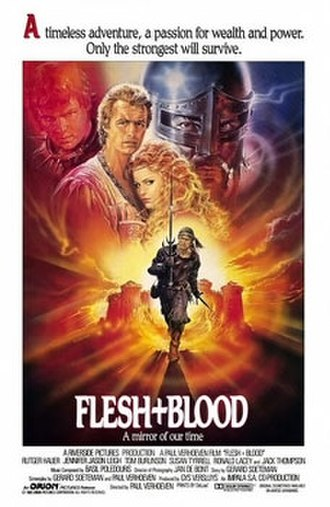 Flesh and Blood (1985 film) - Theatrical release poster by Renato Casaro
