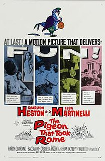 <i>The Pigeon That Took Rome</i> 1962 film by Melville Shavelson