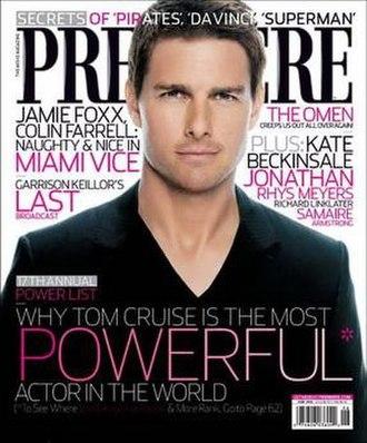 Premiere (magazine) - Image: Premieremagtomcruise
