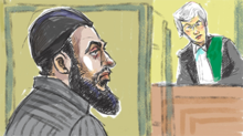 Raed Jaser is arraigned on terrorism-related charges in a Toronto courtroom.tiff