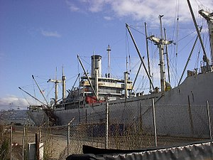 SS Red Oak Victory - SS Red Oak Victory as seen from the dock in 2006, before extensive restoration work was performed