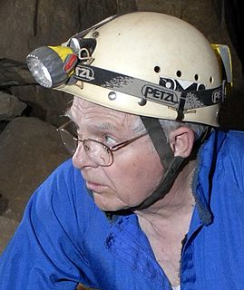 leading American cave explorer and author of books about caves