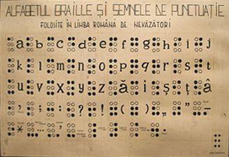 Romanian Braille - Image: Romanian Braille chart