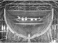 The hull of SS Roosevelt under construction