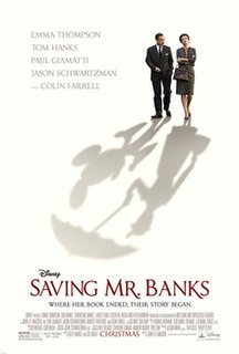 <i>Saving Mr. Banks</i> 2013 period drama film produced by Walt Disney Pictures
