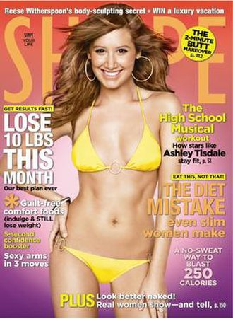 Shape (magazine) - A cover of Shape, featuring Ashley Tisdale, January 2009