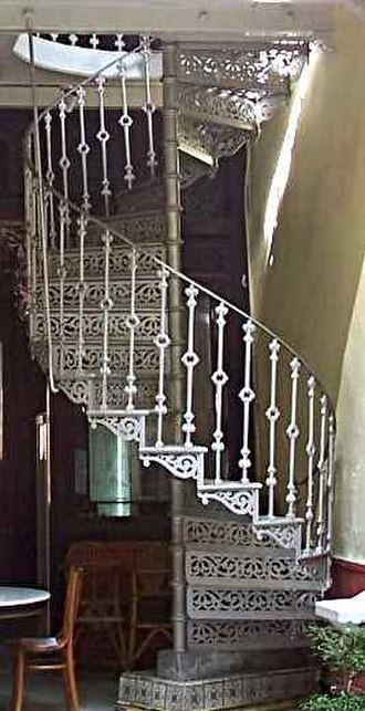 Newel - Image: Spiral staircase malacca