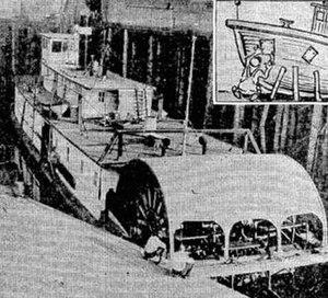 Cowlitz (sternwheeler) - Cowlitz depicted in The Oregonian, September 1930