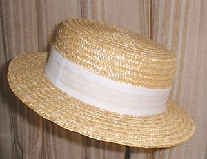 Straw hat - Image: Straw Boater
