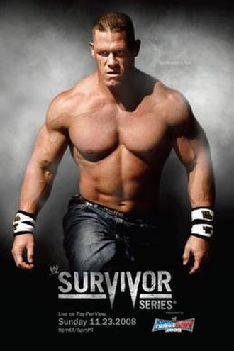 Survivor Series (2008) - Promotional poster featuring John Cena