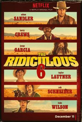 The Ridiculous 6 - Film release poster