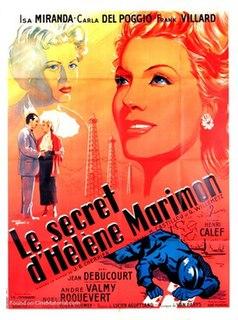 <i>The Secret of Helene Marimon</i> 1954 film