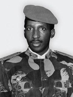 Thomas Sankara President of Upper Volta